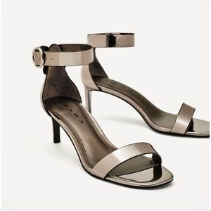 Zara Mirror Finish Sandals